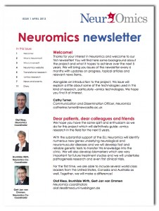 First NeurOmics newsletter
